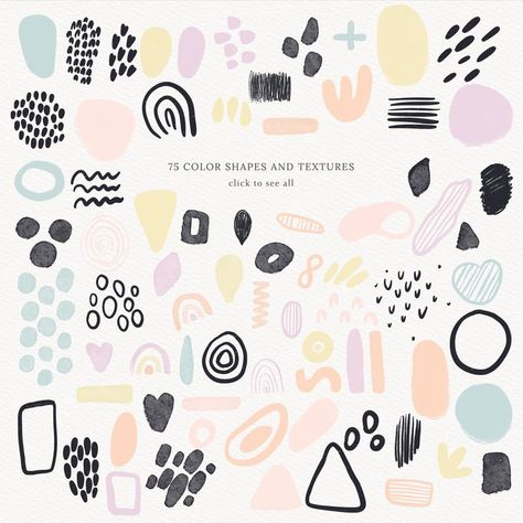 Abstract Shapes Vol.2, Wedding Graphics, Abstract Pattern, Modern Abstract Shapes, Botanical Clipart, Stories Template, Abstract Graphics