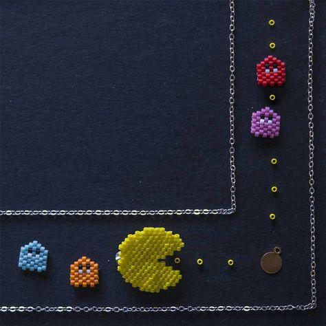 renk Pacman broş ve küpe olmaya...