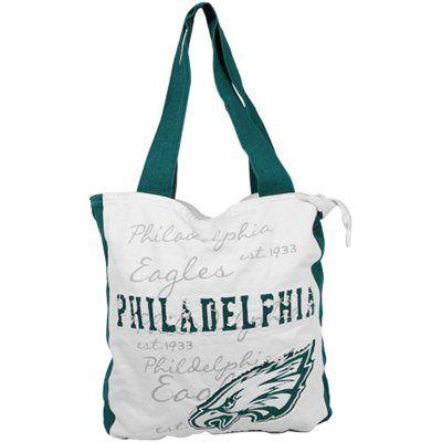 Philadelphia Eagles Ladies Reverse Applique Tote Natural Midnight Green Tote Tote Bag Bags