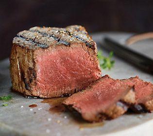 Kansas City Steak Co 4 6 Oz Usda Prime Filet Mignon Steaks Qvc Com Products Mignon Steak Filet Mignon Steak Steak