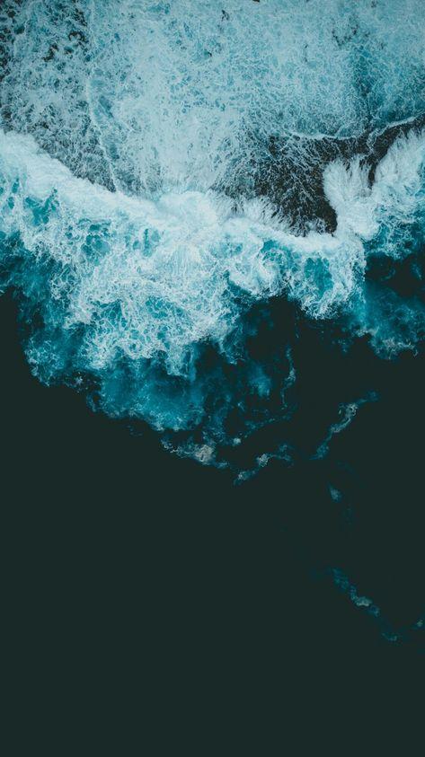 Uɐǝɔo Blue Bluetheme Ocean With Images Ocean Wallpaper