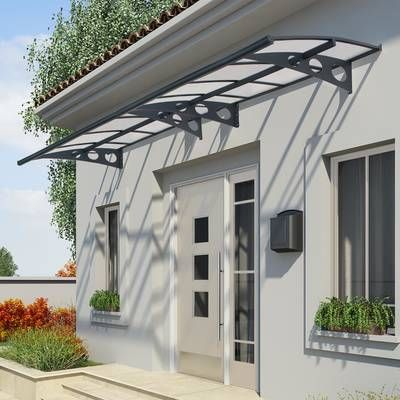 Feria 20 Ft W X 10 Ft D Plastic Standard Patio Awning Door Awnings Patio Awning Window Awnings