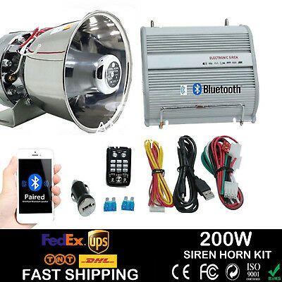 Advertisement Ebay 400w Car Alarm Police Fire Loud Speaker Pa Siren Horn Bluetooth System Kit Parts Car Alarm Pa System Siren