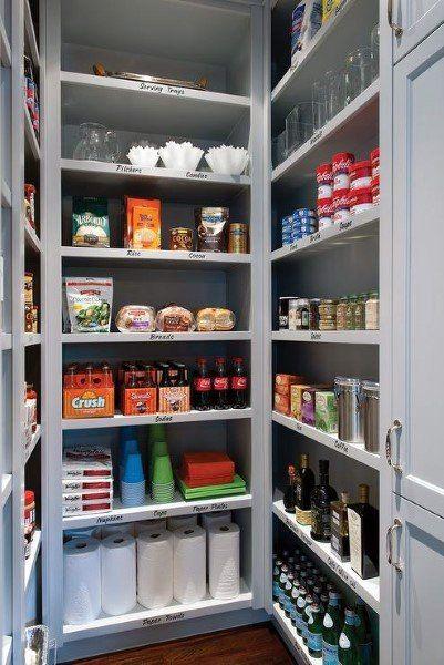 Top 70 Best Kitchen Pantry Ideas Organized Storage Designs Pantry Room Pantry Design Kitchen Pantry Storage