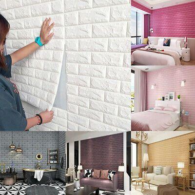 3D Tile Brick Wall Sticker Self-adhesive Waterproof Foam Panel Wallpaper 60*30cm