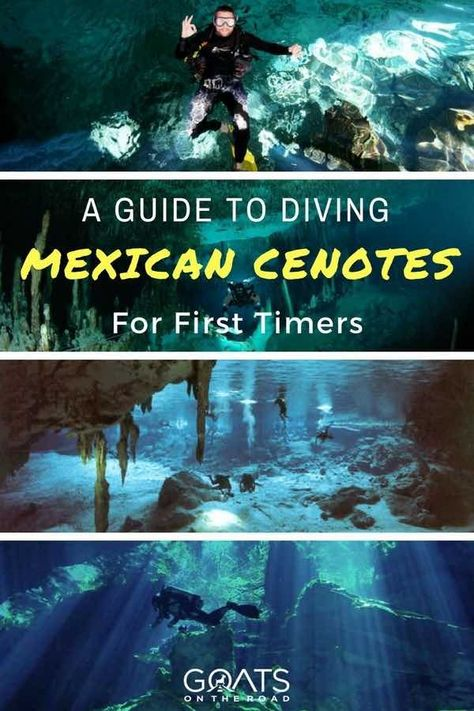 Mexico is one of the best destinations in the world to try cave diving. If these underwater adventures are on your travel bucketlist read this | #visitmexico #mexico #mexicotravel #adventuretravel #bestdivesites #diving #scuba #travel #underwater #cavediving #bucketlist #tulum #yucatan #cenotes