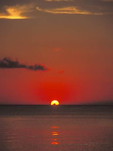 Photographic Print Red Orange Sunset On Horizon Of Caribbean Sky By James Forte 12x9in Sky Aesthetic Fine Art Landscape Photography Landscape Photography