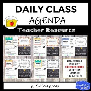 Daily Agenda Google Slides Template Set 1 Distance Learning Classroom Agenda Math Template Collaborative Classroom