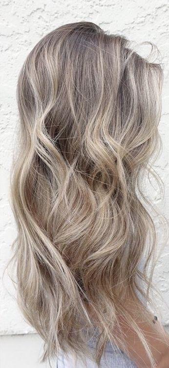 Ash Blonde Shadow Root Ash Blonde Hair Colour Balayage Hair