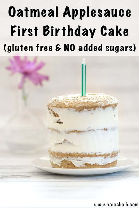 No Added Sugar Gluten Free First Birthday Cake This gluten free healthy smash cake recipe is perfect for your toddler's birthday celebration! - Healthy Smash Cake Recipe - No Added Sugar Gluten Free First Birthday Cake - The Artisan Life Smash Cake Recipes, Healthy Cake Recipes, Baby Food Recipes, Baby Food Cake Recipe, Healthy Smash Cakes, Homemade Smash Cake, Smash Recipe, Easter Recipes, Baby First Birthday Cake