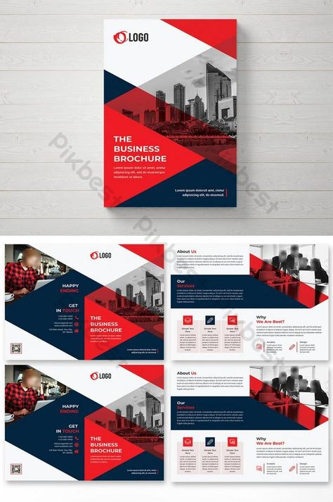 Corporate Business Bifold Brochure Design Template | PSD Free Download - Pikbest