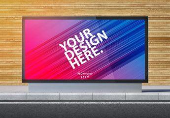 Advertising Kiosk Lightbox Mockup Ad Kiosk Advertising Mockup Lightbox Ad Light Box Mockup Templates