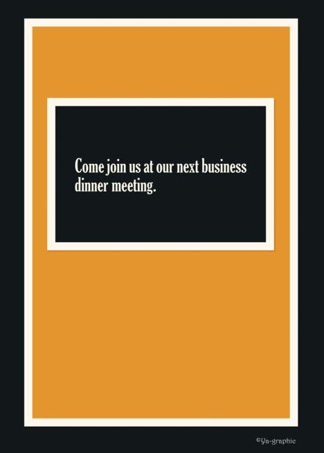 Business Dinner Meeting Invitation Card Ad Sponsored