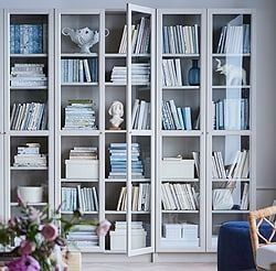 Pin By Anne Stupp On Korea In 2020 Bookcase With Glass Doors Bookcase Bookcase Design