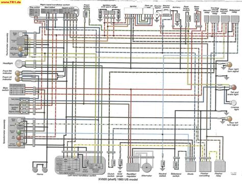 virago 920 wiring diagram tr1 xv1000 xv920 wiring diagrams manfred s tr1 page all about  tr1 xv1000 xv920 wiring diagrams