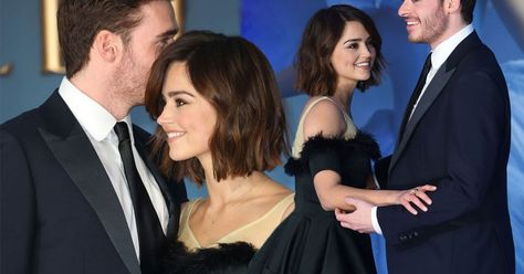 The cute couple could barely keep their hands off each other on the red carpet (we're just jealous)