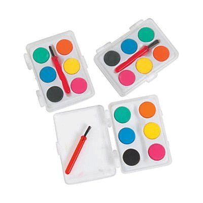 Mini Kids Watercolor Paint Sets With Brush 12 Sets In 2020 With