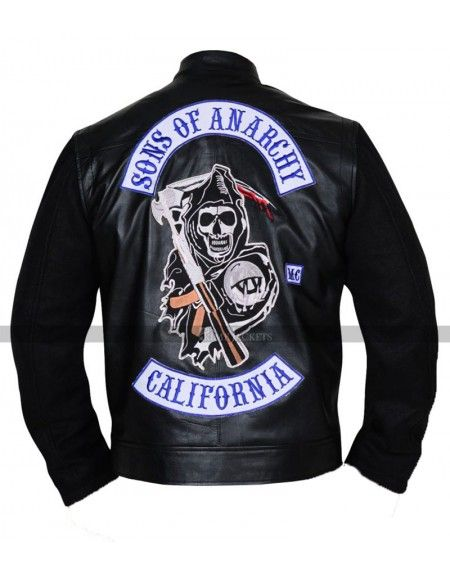 Sons Of Anarchy Men S Highway Leather Jacket Jackets Leather Jackets Women Motorcycle Jacket