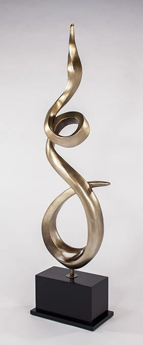 Twisted Flame Modern Floor Sculpture Artmax All Items 4471 Ad In