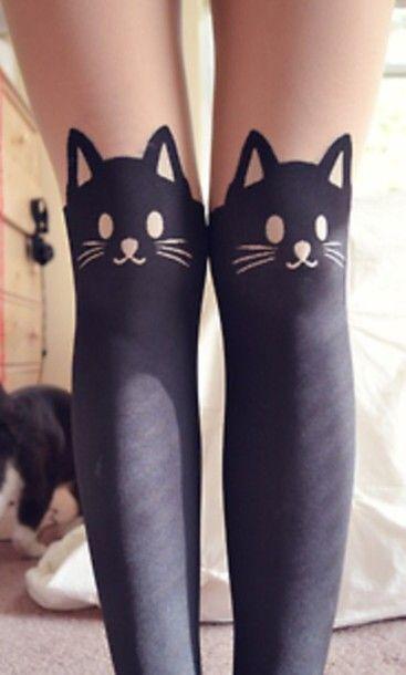 Ͷow or Ͷever — kitty tights and noah's butt.