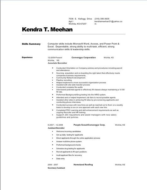 Mortgage Broker Resume -    getresumetemplateinfo 3707 - exercise psychologist sample resume