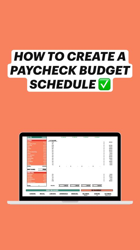 HOW TO CREATE A PAYCHECK BUDGET SCHEDULE