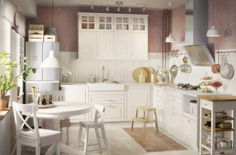 INGATORP Uitschuifbare tafel, wit Ikea design, Ikea cabinets and - küchen selber bauen