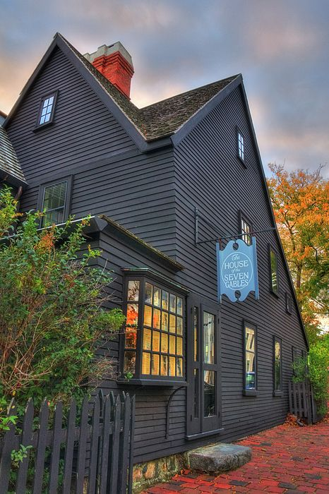 House of Seven Gables - Salem Ma by Joann Vitali The Places Youll Go, Cool Places To Visit, Places To Go, Salem Halloween, Halloween 2020, Happy Halloween, House Of Seven Gables, Salem Mass, Witch House
