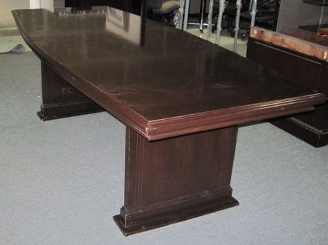 Used Mahogany Conference Table Feet X Feet Get A Quote Today - 8 foot conference table and chairs