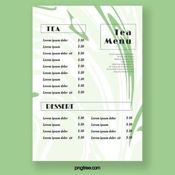 قائمة طعام مطعم شاي شاي بعد الظهر Menu Restaurant Tea Illustration Afternoon Tea