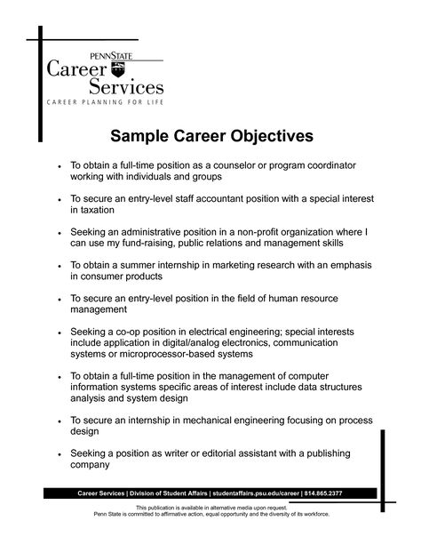 The 25+ best Career objectives for resume ideas on Pinterest - resume career objectives