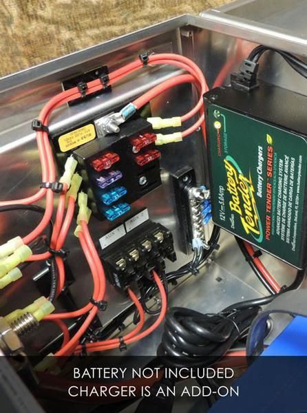 12 Volt Portable Battery Box 12 Volt Aluminum Portable Power Station Wired Charging Port 12 Volt And Usb And Auxiliary O Boat Wiring Portable Power Battery