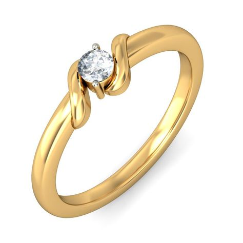 e0b101cec Propose your beloved with 'The Love Clasp Ring' By BlueStone.com #Gold # Rings #18k Rings #Women #Diamond Rings #Engagement #love #romance #proposal