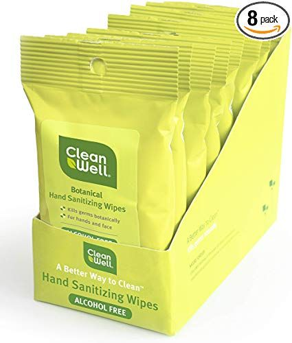 Amazon Com Cleanwell Botanical Hand Sanitizing Wipes Original