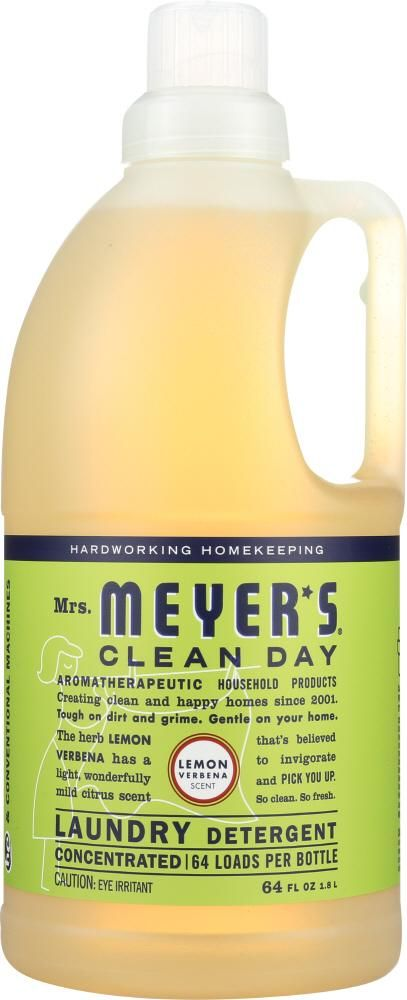 Mrs Meyer S Clean Day Laundry Detergent Lemon Verbena Scent 64
