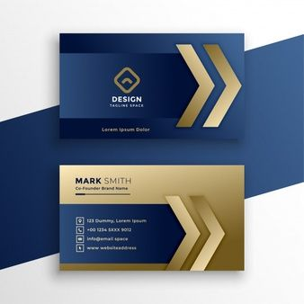 Dark Blue Modern Creative Business Card And Name Card Horizontal Simple Clean Templat Gold Business Card Business Card Logo Design Graphic Design Business Card