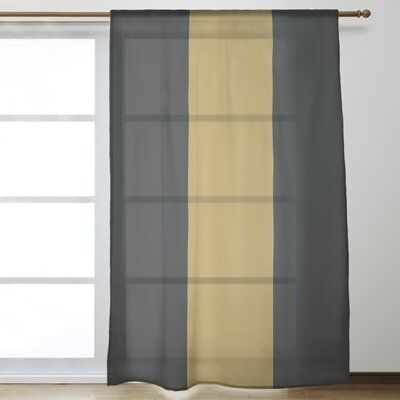 East Urban Home Wake Salem Window Striped Sheer Rod Pocket Single