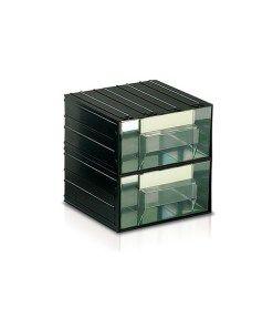Cassetti In Plastica Componibili.Cassettiera In Plastica Componibile 2 Cassetti Trasparenti