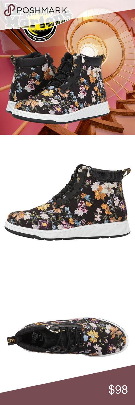 New Dr Martens Darcy Floral Telkes Women Boots