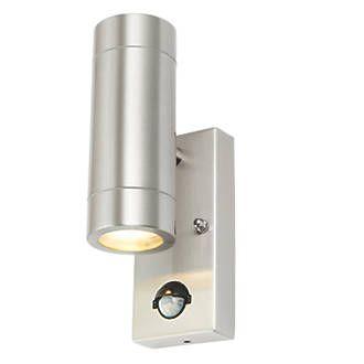 Lap Bronx Stainless Steel Gu10 Pir Up Down Wall Light Wall Lights Up Down Wall Light Light