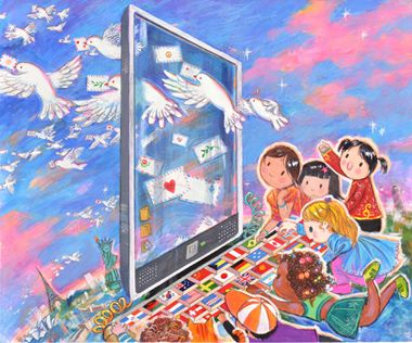 """""""Peace Begins with Me"""" 2008-2009 Grand Prize Winner, by 12-year-old Yennie Shyu of California, USA"""