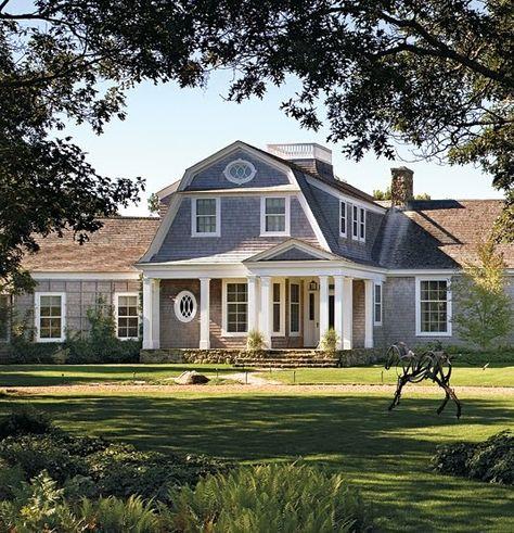 Design Chic Dream Home Ideas Shingle Style Homes Porch Roof Design Gambrel Roof