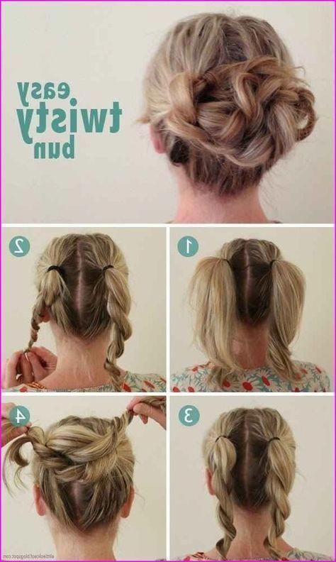 40 Cute Hairstyles Step By Step Tutorials For Long Hair Short Hair Models Sim Short Hair Styles Easy Short Hair Updo Medium Hair Styles