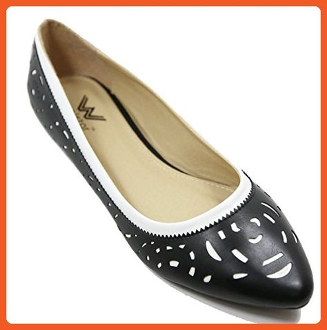 Ladies Spot On Casual Pointed Toe Loafers