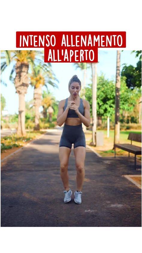 Intenso allenamento all'aperto - Esercizi Aerobici