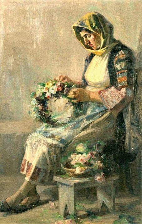 """ΛΟΥΚΑΣ ΓΕΡΑΛΗΣ (1875 - 1958) - """"Πρωτομαγιά"""" [;] (With images ..."""