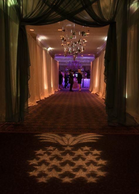 Event Entrance Gobo Lighting Dry Hanging