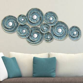 Woven Texture Metal Plate Wall Decor In 2020 Metal Wall Decor Teal Wall Decor Blue Wall Decor