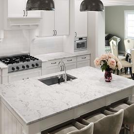 Allen Roth Effervesce Quartz Kitchen Countertop Sample Lowes Com