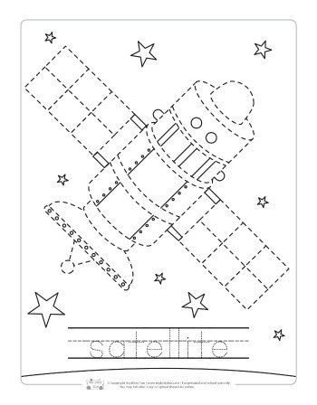 Space Tracing Worksheets Itsybitsyfun Com Space Preschool Space Lessons Tracing Worksheets